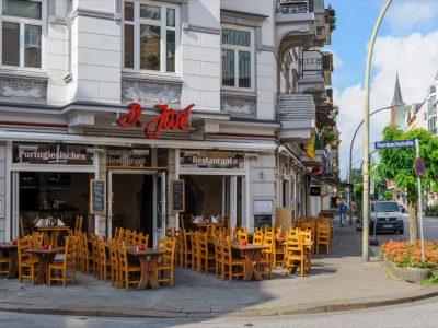 D. Jose Restaurant Hamburg Portugiesenviertel Sitzbereich außen